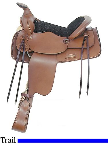 "13"" American Saddlery Trail Master General Lee Youth Trail Saddle 315"