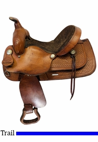 13 Inch Used American Saddlery Trails for All Youth Saddle 1460 *Free Shipping*