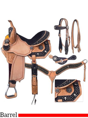 "13"" Silver Royal Desert Faith Barrel Saddle Package 9sr272"