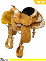"DISCONTINUED 2018/10/05 13"" to 14"" Colorado Saddlery's The ""Show Stopper"" Saddle 300-3112-4112"