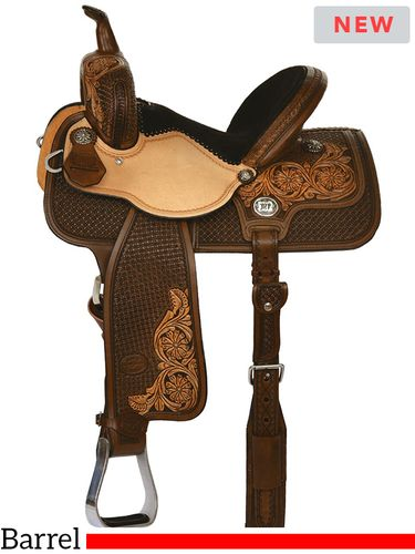 "13"" to 15"" Reinsman Molly Powell Classic Cowgirl Barrel Saddle 4266 w/Free Pad"