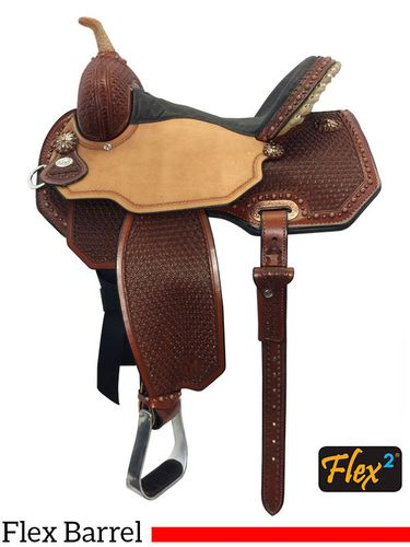 "13"" to 16"" Circle Y Ambition Flex2 Barrel Saddle 1550 w/Free Pad"