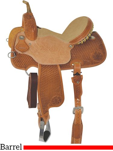 "13"" to 16"" Reinsman Barrel Racing Saddle 4202 w/Free Pad"