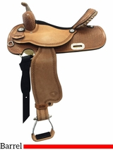 "13"" to 14"" Tex Tan Finals Round Barrel Saddle 292220"