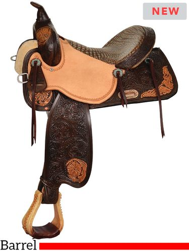 High Horse Lariat Barrel Saddle 6226 w/Free Pad