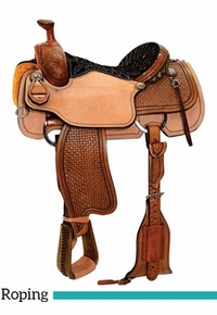 "13"" to 17"" Reinsman OY Roping Saddle 4412 w/Free Pad"