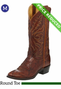 13EE Men's Justin Buck Chestnut Western Boots 1560 CLEARANCE