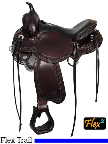"14"" to 17"" Julie Goodnight Blue Ridge Flex2 Trail Saddle 1751"