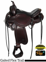 "14"" to 17"" Circle Y Julie Goodnight Blue Ridge Flex2 Gaited Trail Saddle 1751"