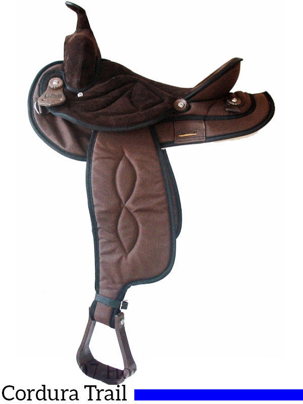 15,16 17 INCH TOP QUALITY SYNTHETIC LEATHER SADDLE BLACK//BROWN SUEDE SEAT 14