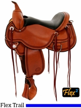 "** SALE **14"" to 18"" Circle Y Pioneer Flex2 Trail Saddle 1665"