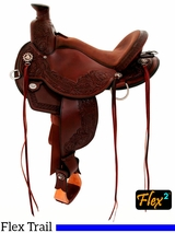 "14"" to 17"" Circle Y Walnut Grove Flex2 Trail Saddle 1157"