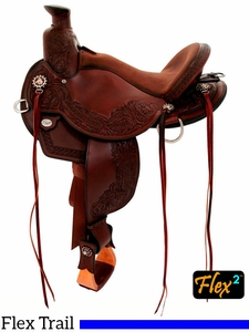 "** SALE **14"" to 17"" Circle Y Walnut Grove Flex2 Trail Saddle 1157"