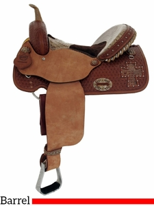 "DISCONTINUED 2018/10/10 14"" 15"" Alamo Gator Cross Cutout Barrel Racer 1275-gb"