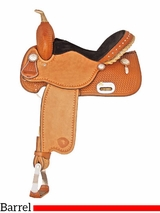 "14"" Tex Tan Speed Racer Barrel Saddle 292217PN"
