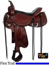 "14"" to 17"" Circle Y Julie Goodnight Monarch Flex2 Arena Saddle 1752 w/Free Pad"