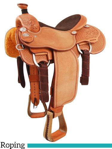 "** SALE **13.5"" to 17"" Martin Saddlery Joe Beaver Calf Roper mr63AOW"