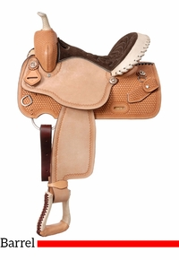 "14.5"" to 15.5"" Silver Royal Cimarron Barrel Saddle 261"