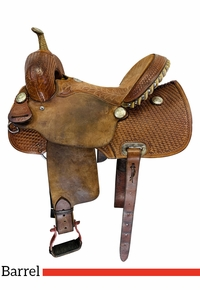 14.5Inch Used Billy Cook Half Breed Basket Barrel Racer Saddle 1901 *Free Shipping*
