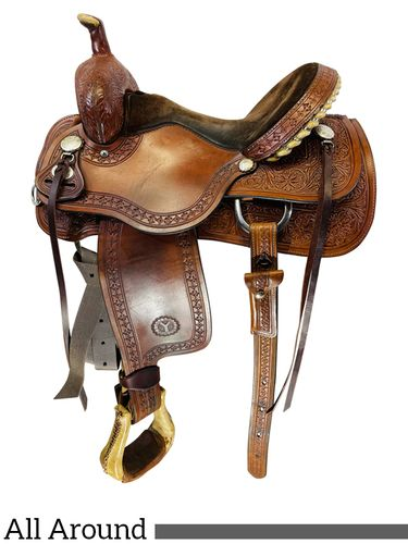 SOLD 2021/05/06 14.5Inch Used Circle Y All Heart All-Around Kelly Kaminski Saddle 2200 *Free Shipping*