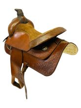 14.5Inch Used Custom Ranch Saddle 3910 *Free Shipping*