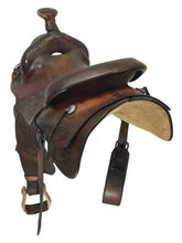 14.5Inch Used James Morris Roping Saddle 164 *Free Shipping*