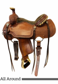 14.5Inch Used Reinsman All Around Roper Saddle 4504 *Free Shipping*