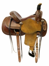 14.5Inch Used SRS Saddlery Ranch Saddle Custom *Free Shipping*