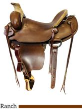 14.5Inch Used Steele Ranch Western Trail Saddle Custom *Free Shipping*