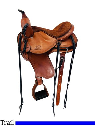 SOLD 2020/05/31 PRICE REDUCED!! 14.5Inch Used Synergist Custom Lightweight Trail Saddle *Free Shipping*
