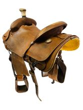 14.5Inch Used Teskeys Ranch Saddle Custom *Free Shipping*
