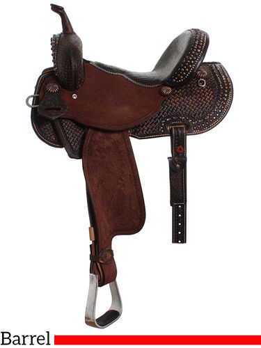 "** SALE **13"" to 17"" Double J Pozzi Pro Barrel Racer SBP440"