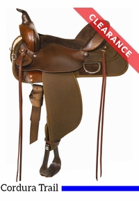 "14"" High Horse by Circle Y Lockhart Cordura Trail Tobac Saddle 6910, CLEARANCE"