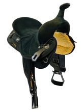 14 Inch Used Big Horn Black Synthetic Trail Saddle 599 *Free Shipping*