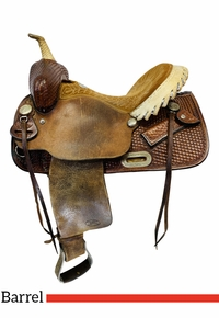 14 Inch Used Billy Cook 1527 Barrel Saddle 1527 *Free Shipping*
