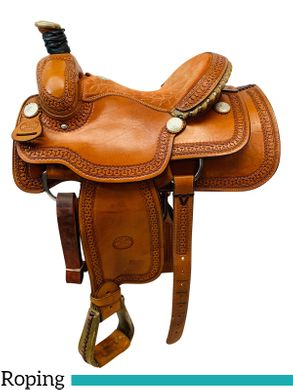 PRICE REDUCED! 14 Inch Used Billy Cook Arena Roping Saddle 2144 *Free Shipping*