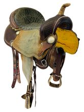 SOLD 2020/06/06  PRICE REDUCED! 14 Inch Used Billy Cook Barrel Racing Saddle 1530 *Free Shipping*