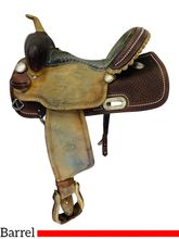PRICE REDUCED! 14 Inch Used Billy Cook Barrel Racing Saddle 1530 *Free Shipping*