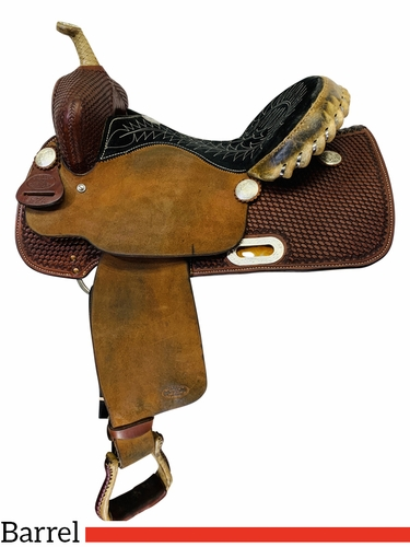 SOLD 2020/06/24 PRICE REDUCED! 14 Inch Used Billy Cook Barrel Saddle 1524 *Free Shipping*