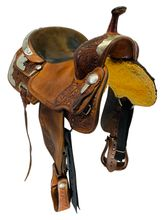 PRICE REDUCED! 14 Inch Used Billy Cook Silver Barrel Racer Saddle 2000 *Free Shipping*
