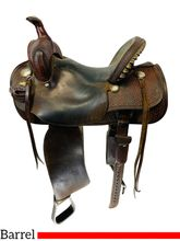SOLD 2021/01/15  14 Inch Used Black Rhino Barrel Saddle Br150 *Free Shipping*
