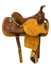 SOLD 2019/11/14  14 Inch Used Crates Mike Beers Team Roper Saddle 9123 *Free Shipping*