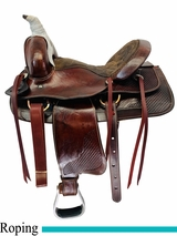 14 Inch Used Custom Trail Saddle cusotm uscu4516 *Free Shipping*