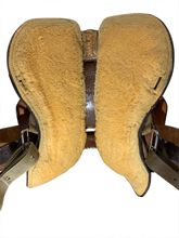 14 Inch Used Double J Lynn McKenzie Special Flex Barrel Saddle Custom *Free Shipping*