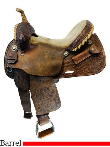 14 Inch Used Francisco Vega Barrel Saddle  Custom *Free Shipping*