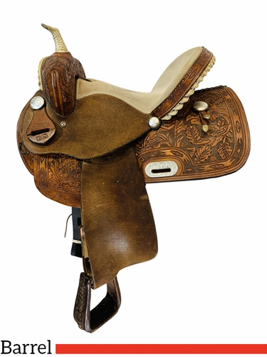 14 Inch Used Frontier Saddlery Barrel Saddle Custom BS *Free Shipping*