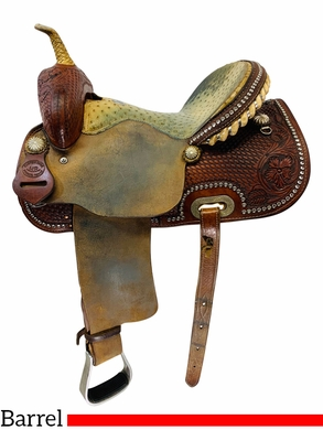 PRICE REDUCED! 14 Inch Used HR Custom Barrel Racing Saddle *Free Shipping*