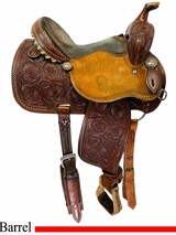 PRICE REDUCED! 14 Inch Used Martin Original Sherry Cervi Barrel Saddle custom usmr4519 *Free Shipping*