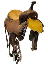 SOLD 2020/09/05  14 Inch Used Martin Sherry Cervi Tall Horn Barrel Saddle Custom *Free Shipping*
