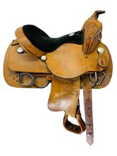 PRICE REDUCED! 14 Inch Used Rocking R Training Saddle 1400 *Free Shipping*